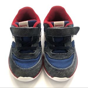 Saucony Jazz Lite sneaker red navy toddler size 5m
